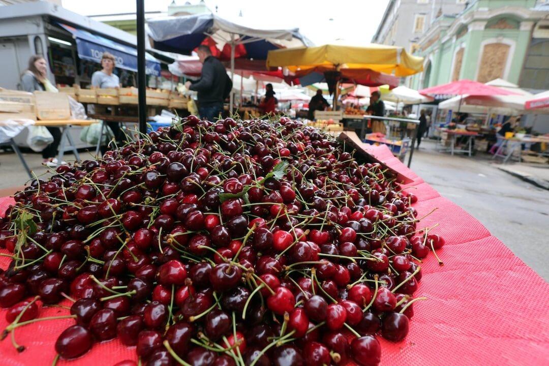 Rijeka market fresh fruits